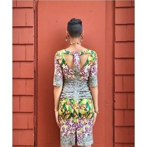 Anthropologie Tracy Reese Spliced Nouveau Dress